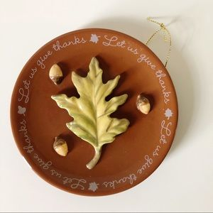 Fall Thanksgiving Ceramic Hanging Decor 3D Acorns